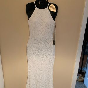 White Lace Bodycon Maxi Dress